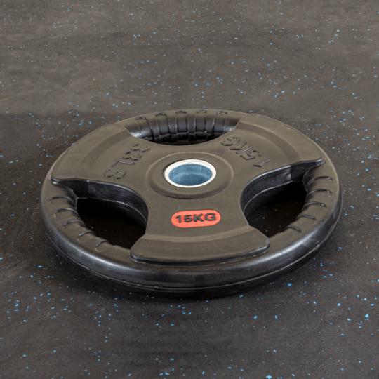 Treniraj.si gumirana disk utež 15 kg
