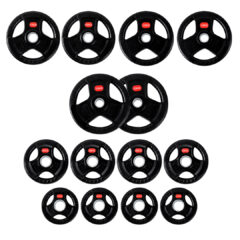 Treniraj.si set gumiranih disk uteži 120 kg